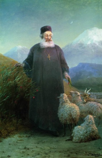 Aivazovsky_-_Catholicos_Khrimyan_Airik_near_Echmiadzin