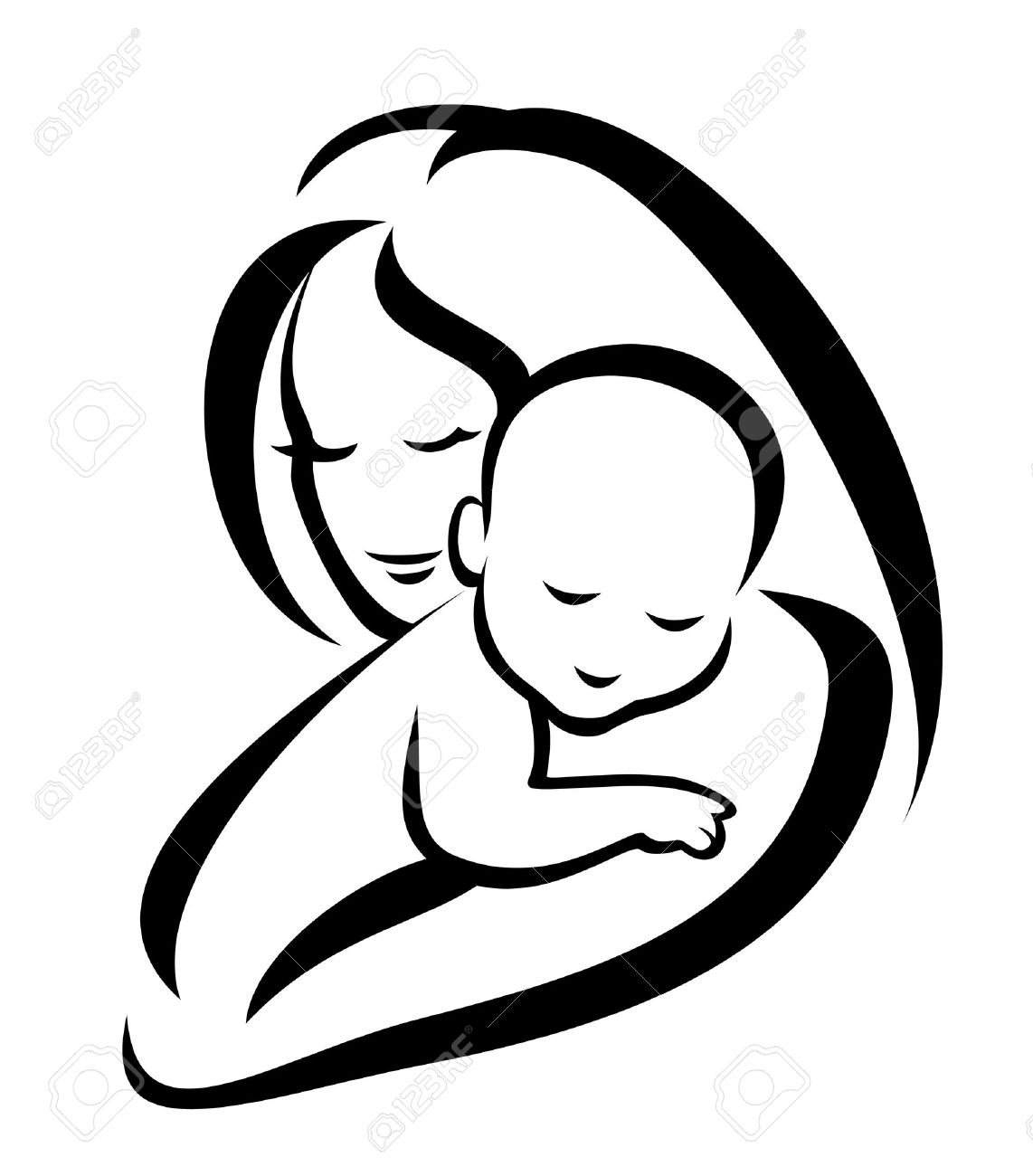 22398385-mother-and-baby-symbol